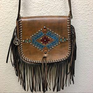 American West Pueblo Moon Leather Crossbody